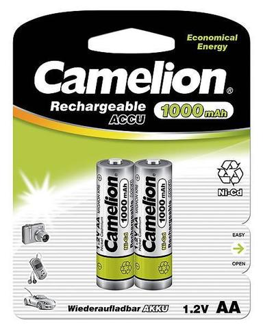 Аккумуляторы CAMELION R 6/2bl 1000 mAh Ni-CD