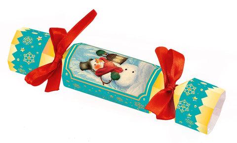 Большая новогодняя конфета Снеговик