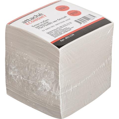 Блок для записей Attache 70x70x80 мм белый (плотность 65 г/кв.м)