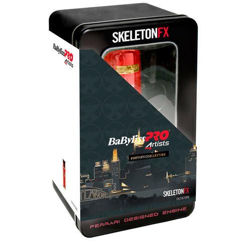 Триммер для окантовки BaByliss Skeleton fx Red, 0,1 мм, аккум/сетевой