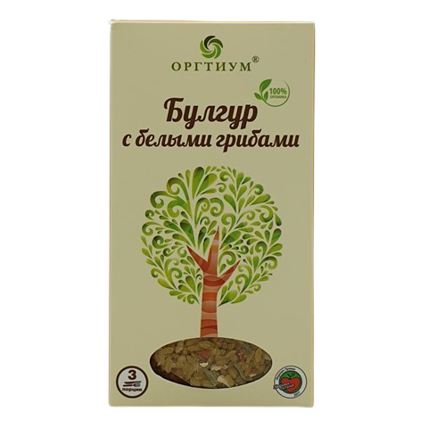 Булгур с белыми грибами ОРГТИУМ, 180 гр