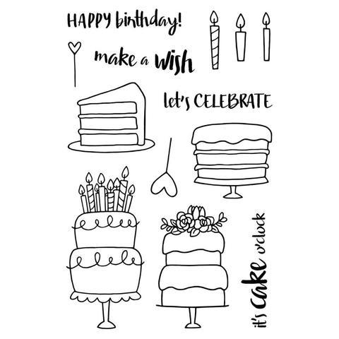 Набор силиконовых штампов -Cake!