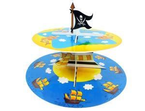 Стойка для кексов 2 яруса Маленький Пират