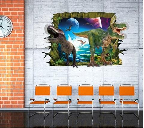 Парк юрского периода 3D наклейка Мир динозавров