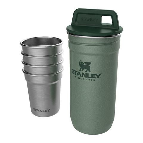 Набор стопок Stanley Adventure (4 шт по 59 мл. + футляр), темно-зеленый
