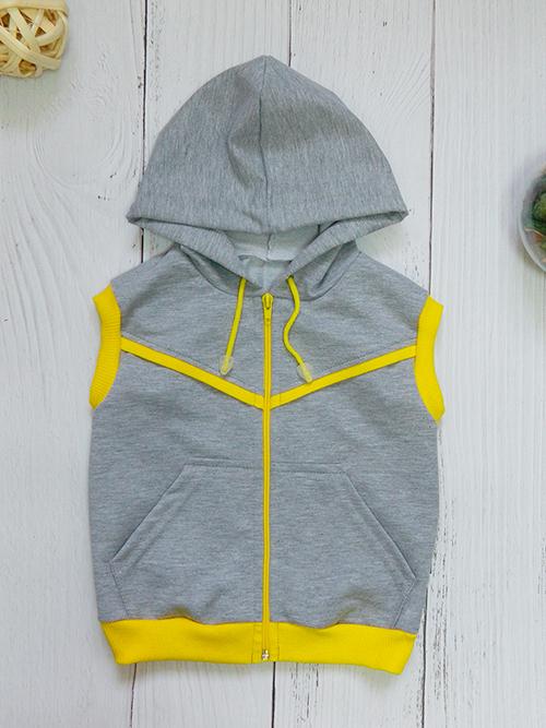 Жилет 3142, серо-желтый