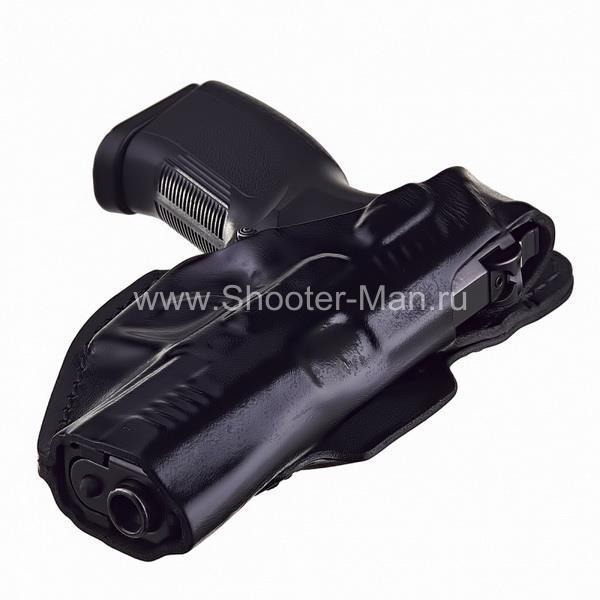 Кобура кожаная для пистолета Grand Power Т 10 и Т 12 поясная ( модель № 8 ) Стич Профи