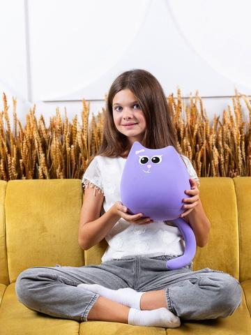Мягкая игрушка-подушка Gekoko «Кошечка Мини Сирень» 3