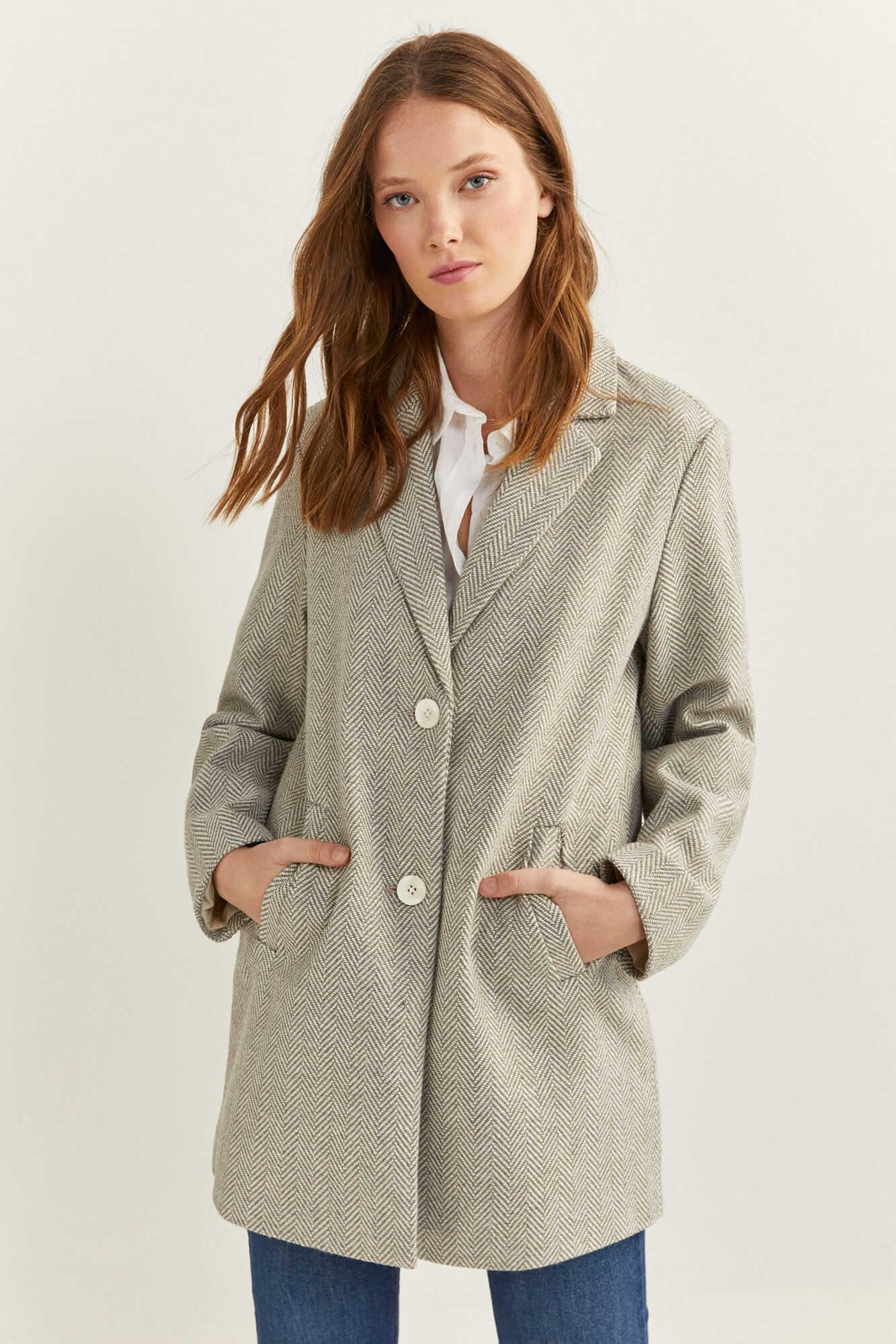 Базове пальто на ґудзиках