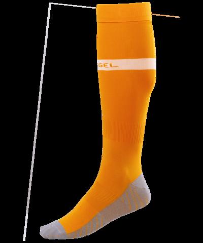 Гетры футбольные JA-003, оранжевый/белый