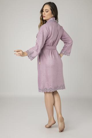 Халат женский махровый 17259 лиловый NUSA Турция