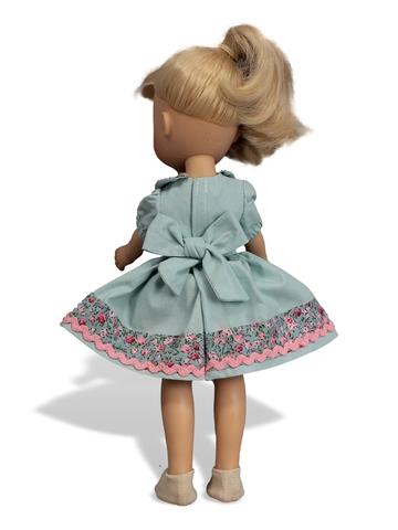 Комплект: платье, панталоны, тапочки и полоска на голову - На кукле. Одежда для кукол, пупсов и мягких игрушек.