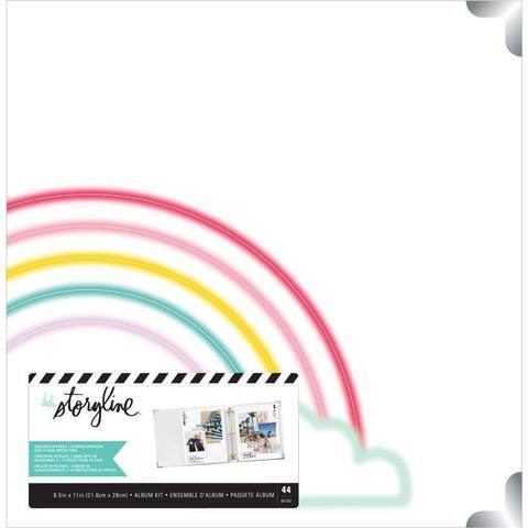 Альбом на кольцах для Project Life ( для файлов 22х28 см) Heidi Swapp Storyline 3D-Ring Album  -Rainbow