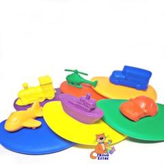Пример игры в радужные камешки и фигурки транспорт EDX Education
