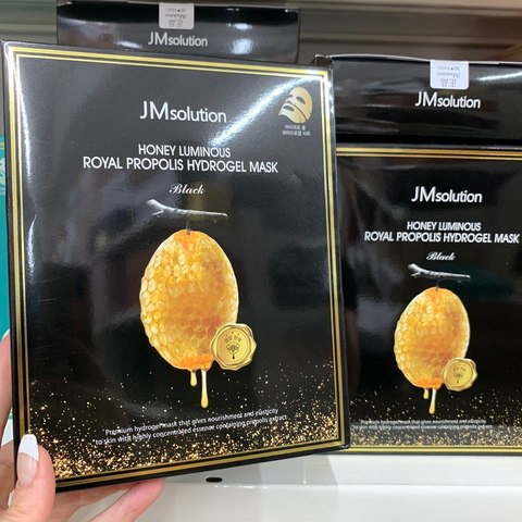 JM Solution Honey Luminous Hydrogel Mask Black 10ea