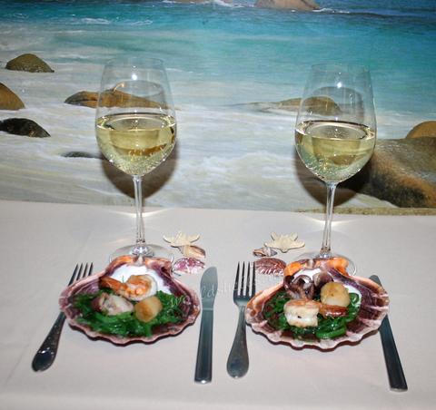 Морская раковина в качестве тарелки