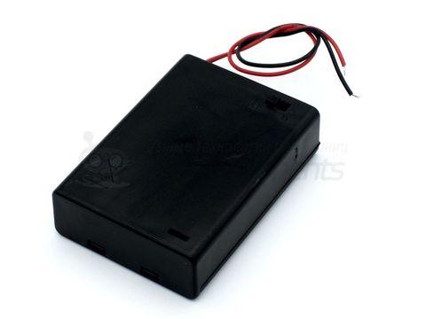 Отсек для батареек 3хАА с крышкой без штекера