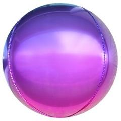 К Сфера 3D, Омбре, Фиолетовый-Фуше, Градиент, 24''/61 см, 1 шт.