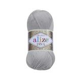 Пряжа Alize Diva 355 серый