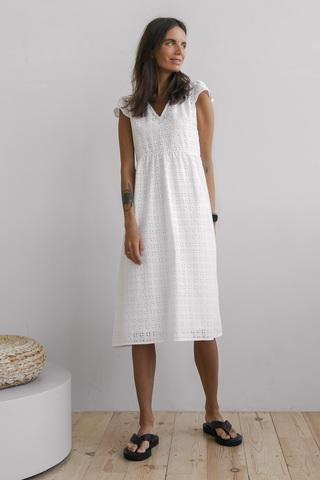 Платье с крылышками, белый