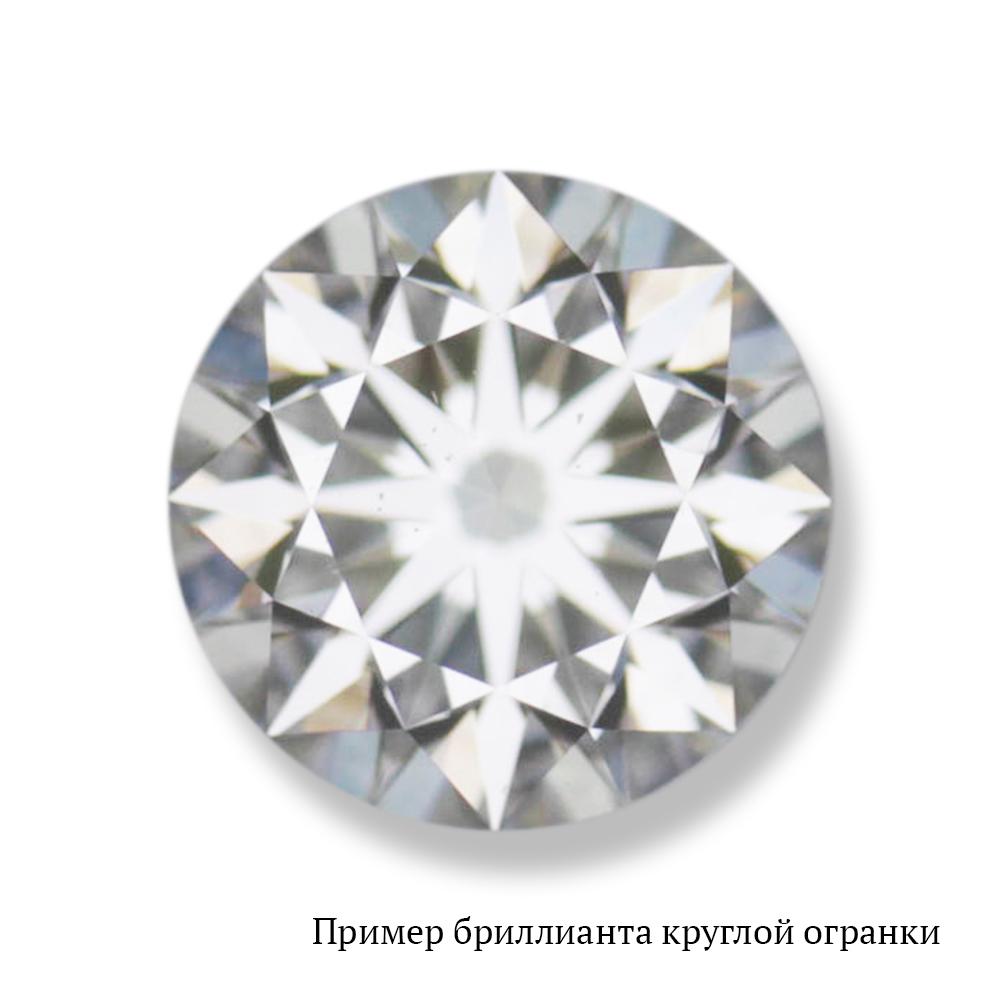 Бриллиант №YGL138002 Кр-57 6/8 А
