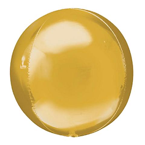 Сфера 3D Металлик Золото 51 см