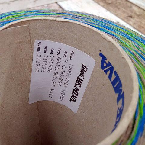 Хлопок BE.MI.VA BABY KAIDO  900 сине-зеленый