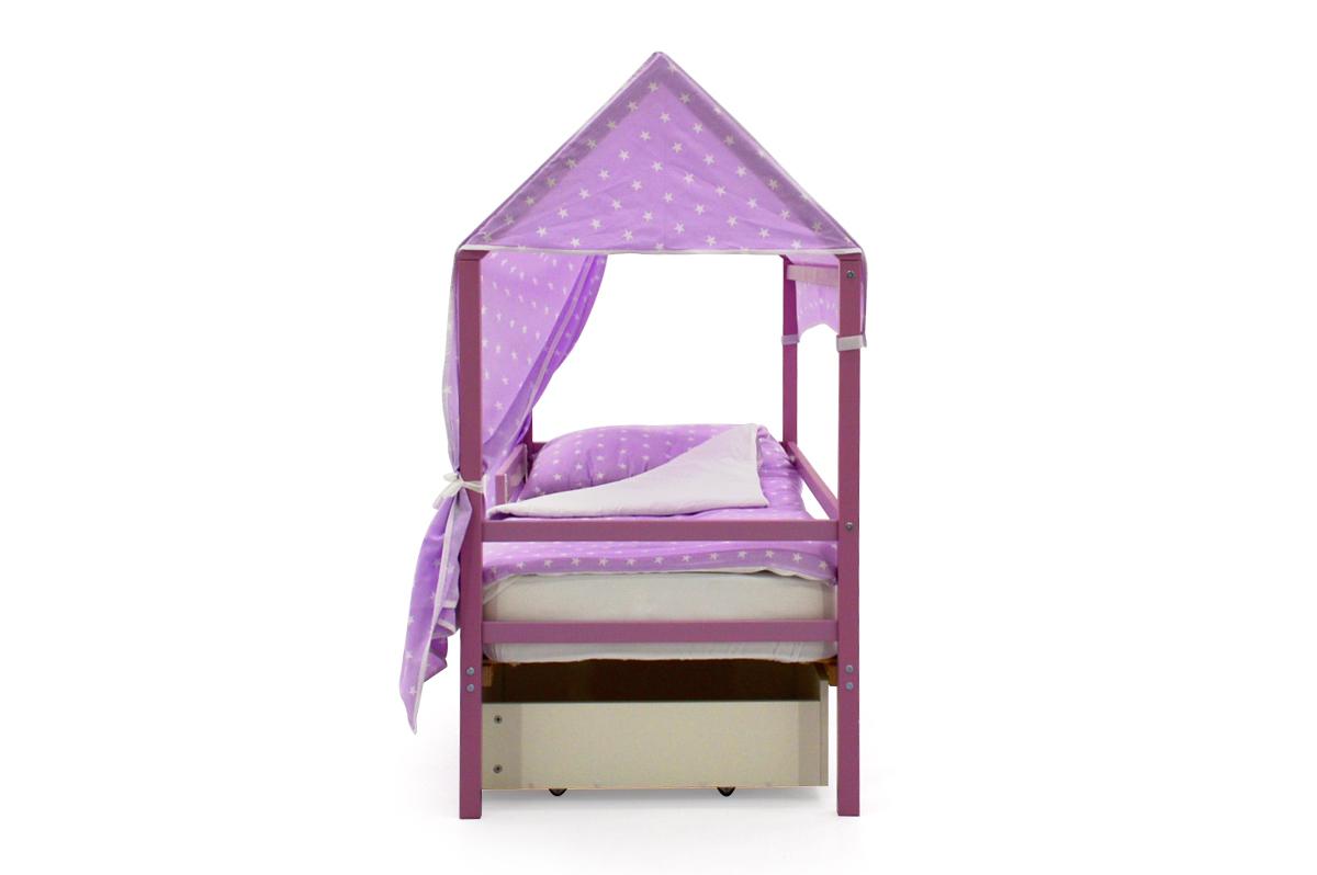 """Крыша текстильная для кровати-домика Svogen """"звезды,фон лаванда"""""""