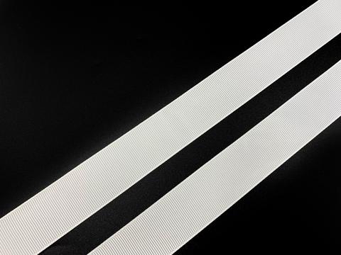 Репсовая лента (сантюр) 25мм, белая (упаковка 92 м)