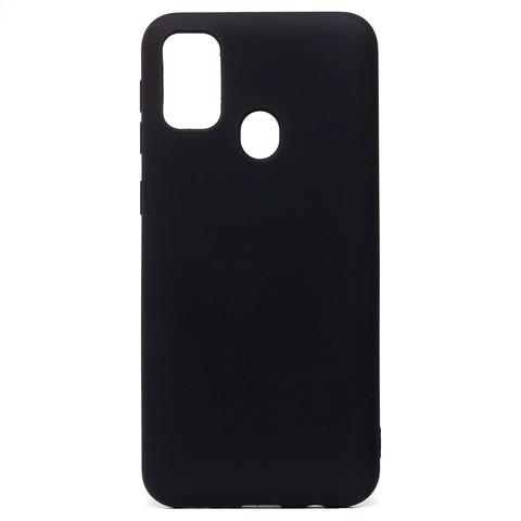 Чехол для Samsung (M215) Galaxy M21 Софт тач мягкий эффект   микрофибра черный