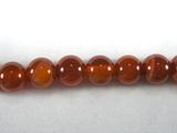 Бусина из сардоникса, термо обработанного, шар гладкий 6 мм