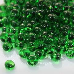 50120 Бисер Preciosa Дропс (Drops) 5/0 прозрачный зеленый