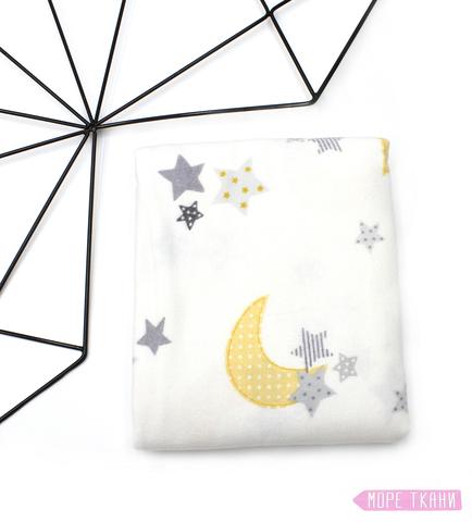 Фланелевая пеленка, звезды и луна(100х120)