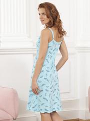 Vivamama. Сорочка для беременных и кормящих Victory, перо на бирюзе вид 3