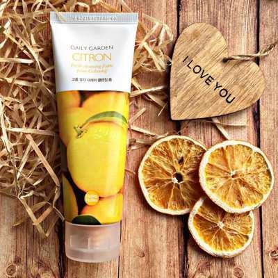 Пенка для умывания с экстрактом цитрусовых Holika Holika Daily Garden Citron Fresh Cleansing Foam