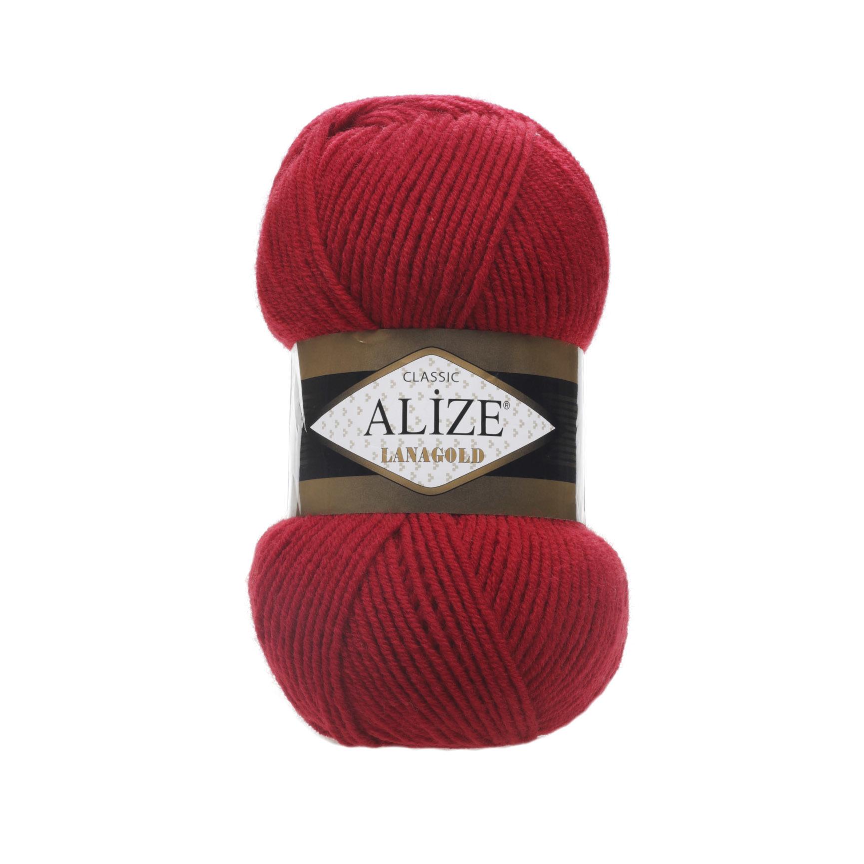 Пряжа Alize Lanagold 56 красный