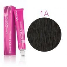 Matrix SOCOLOR.beauty: Ash 1A иссиня-черный пепельный, краска стойкая для волос (перманентная), 90мл