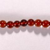 Бусина из граната оранжевого, шар гладкий 4,5 мм