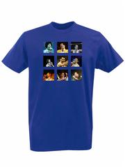 Футболка с принтом Фредди Меркьюри, Queen ( Freddie Mercury ) синяя 001