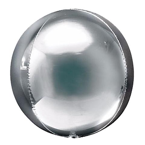 Сфера 3D Металлик Серебро 51 см