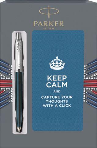 Подарочный набор с блокнотом и Шариковая ручка Parker Jotter Black CT123