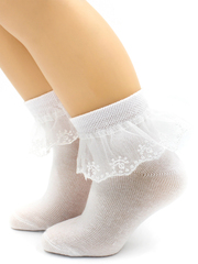 Кружевные детские носочки