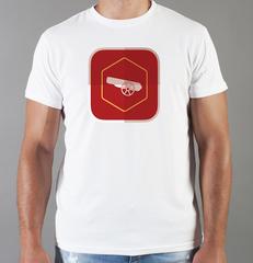 Футболка с принтом FC Arsenal (ФК Арсенал) белая 0014