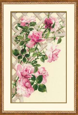 Набор для вышивания крестом «Розовые розы» (898)