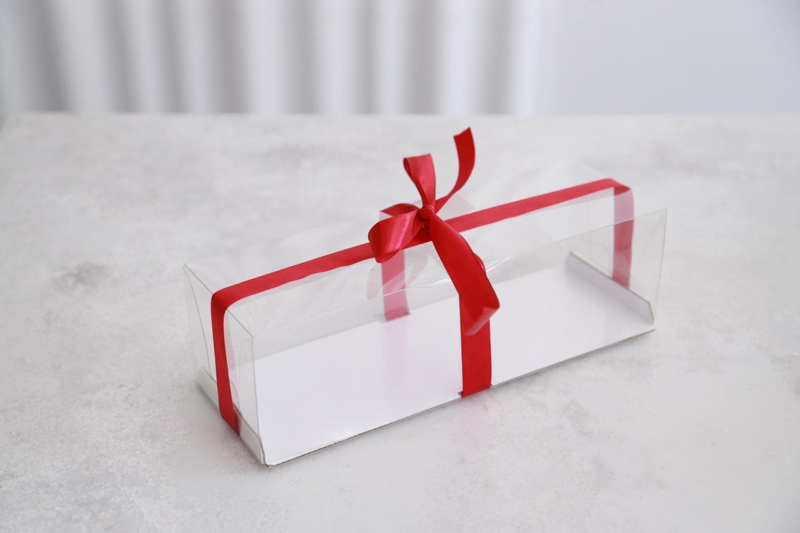 Коробка для рулета с пластиковым куполом, 30х10х9 см