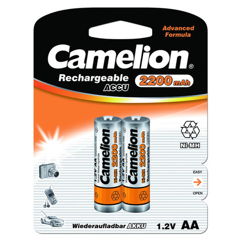Аккумуляторы Camelion R 6/2bl 2200mAh Ni-MH