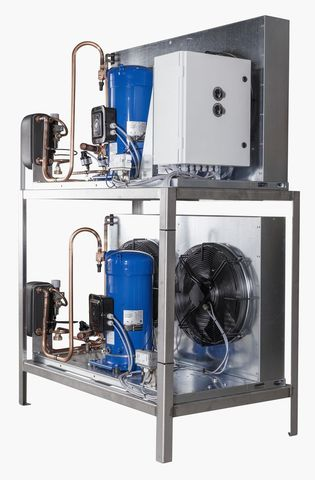 9000 литров | Агрегат для танка охладителя молока на отдельной раме
