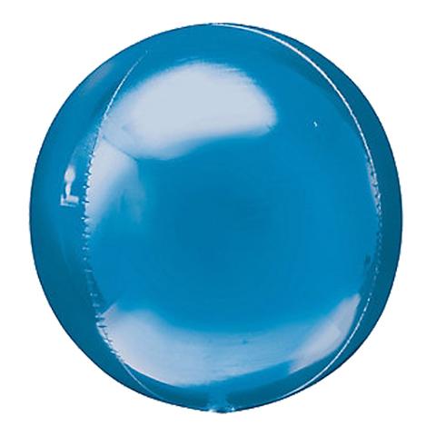 Сфера 3D Металлик Синий 51 см