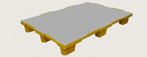 Поддон пластиковый сплошной 1200x800x150 мм. Цвет: Желтый