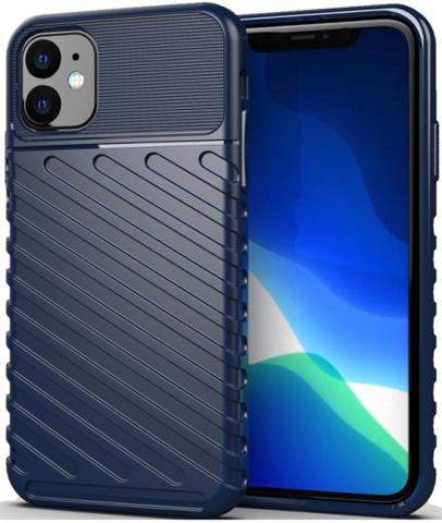 Чехол Carbon для iPhone 11 серия Оникс | синий